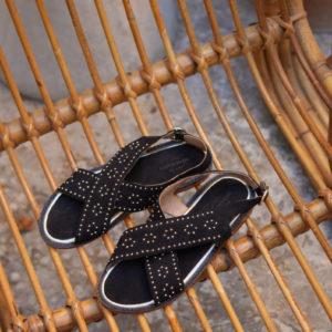 Sandales Plates Luigi - Noir
