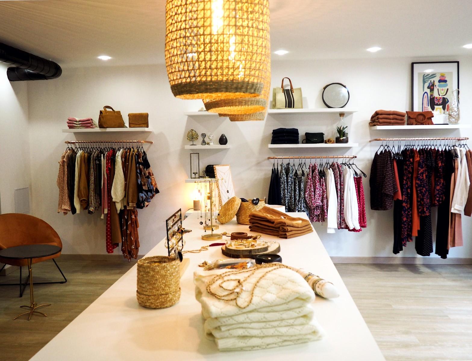 Photo intérieure de la boutique de Bella & Jude