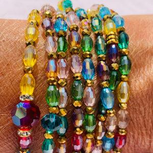 Sautoir - Perles de Riz Multicolore