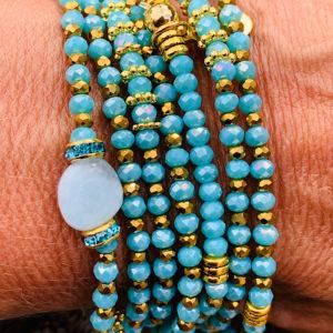 Sautoir - Bleu Turquoise